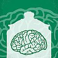 No390 My The Man With Two Brains Minimal Movie Poster by Chungkong Art