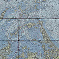 Noaa Chart Of Boston Harbor  by Creative Images on Tile