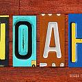 NOAH License Plate Name Sign Fun Kid Room Decor. by Design Turnpike