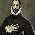 Nobleman With His Hand On His Chest by El Greco