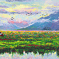 Nomad - Alaska Landscape With Joe Redington's Boat In Knik Alaska by Talya Johnson
