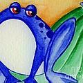 Nonchalant Frog by Lori Ziemba