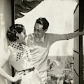 Norma Shearer And Irving Thalberg In A Garden by Edward Steichen