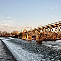 Norristown Dam And Railroad Bridge by Bill Cannon