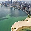North Avenue Beach Chicago Aerial by Adam Romanowicz