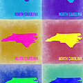 North Carolina Pop Art Map 2 by Naxart Studio