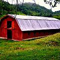 North Carolina Red Barn by Kathy Barney