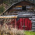 North Carolina Red Door Barn by Carolyn Marshall