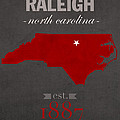 North Carolina State University Wolfpack Raleigh College Town State Map Poster Series No 077 by Design Turnpike