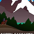 North Cascades National Park Vintage Poster by Eric Glaser