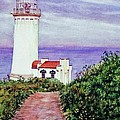 North Head Light House On The Washington Coast by Cynthia Pride