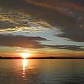 North River Sunset by Georgia Hamlin