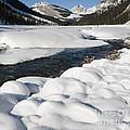 North Saskatchewan River In Winter by John Shaw