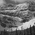 1m3536-bw-north Side Crowfoot Mountain  by Ed  Cooper Photography