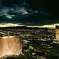 North Vegas Strip At Twilight by Chris Bordeleau