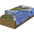 North-western Atlantic, Bathymetry Model by Science Photo Library