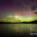 Northern Lights Over Ricker Pond by John Vose