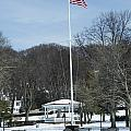 Northport Gazebo In The Snow by Susan Jensen