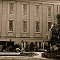 Northwest Side Of University Baptist Church In Sepia by Paulette B Wright
