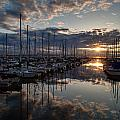 Northwest Sunset Marina by Mike Reid