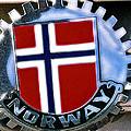 Norway Car Emblem by Bill Owen