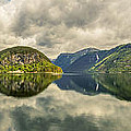 Norway Serenity In Panorama by Angela Stanton