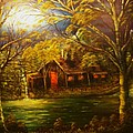 Norwegian Evening Glow- Original Sold - Buy Giclee Print Nr 31 Of Limited Edition Of 40 Prints  by Eddie Michael Beck