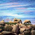 Norwegian Sheep by Janet King