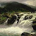 Norwegian Waterfall by Karl Paul Themistocles van Eckenbrecher