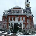 Norwich City Hall In Winter by Geoffrey McLean