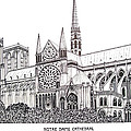 Notre Dame Cathedral - Paris by Frederic Kohli