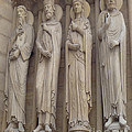 Notre Dame Cathedral Saints by Deborah Smolinske