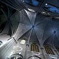 Notre Dame Ceiling In Blues by Evie Carrier
