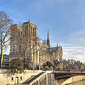 Notre Dame De Paris On A Sunny Winter Day by Mark Tisdale