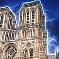 Notre Dame Fractal by Pati Photography