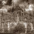 Notre Dame From East Garden by Michael Kirk