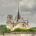 Notre Dame From The Seine by Linda Covino