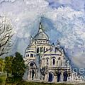Sacre Coeur In Paris by Donna Walsh