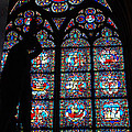 Notre Dame Stained Glass Silhouette by Jennifer Ancker