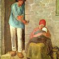Nourishment, 1858 by Jean-Francois Millet