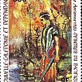 Nouvelle Caledonie Island Stamp by Vladimir Berrio Lemm