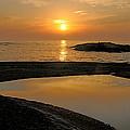November Sunrise II - Lake Superior by Sandra Updyke