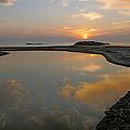 November Sunrise-lake Superior by Sandra Updyke