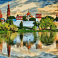 Novodevichy Monastery In Moscow by Yury Malkov