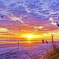 Nsb Lifeguard Station Sunrise by DM Photography- Dan Mongosa