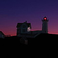 Nubble At Night by Andrea Galiffi