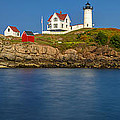 Nubble Light And A Clear Blue Sky by Scott Lynde