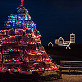 Nubble Lighthouse And Lobster Pot Tree by Jeff Folger