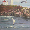 Nubble Lighthouse by Bev Finger
