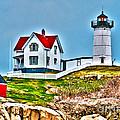 Nubble Lighthouse Cape Neddick Maine 2 by Glenn Gordon